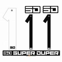 BMX Nummers SD Voor Front en Side Nummer Bord Wit 1