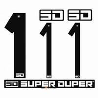 BMX Nummers SD Voor Front en Side Nummer Bord Zwart 1