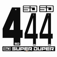 BMX Nummers SD Voor Front en Side Nummer Bord Zwart 4