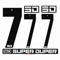 BMX Nummers SD Voor Front en Side Nummer Bord Zwart 7