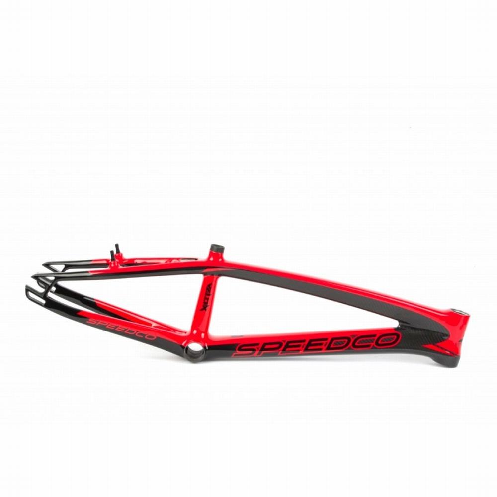 BMX Race Frame Speedco Velox Carbon Gloss Black Red