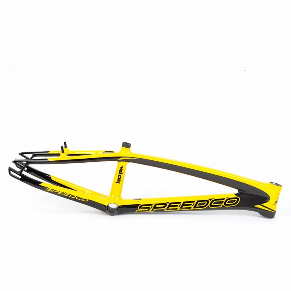 BMX Race Frame Speedco Velox Carbon Gloss Black Yellow