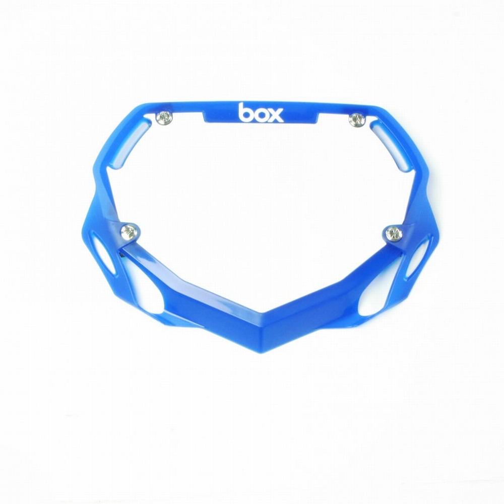 BMX Nummer Bord BOX Phase 1 Translucent Klein Blauw