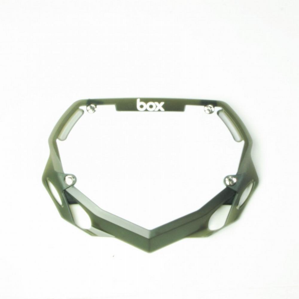 BMX Nummer Bord BOX Phase 1 Translucent Klein Zwart