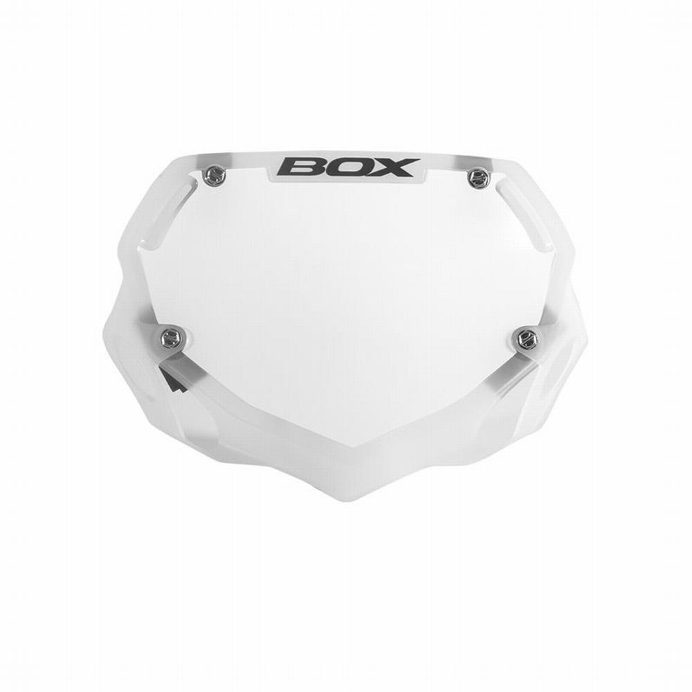 BMX Nummer Bord BOX Phase 1 Translucent Klein Wit