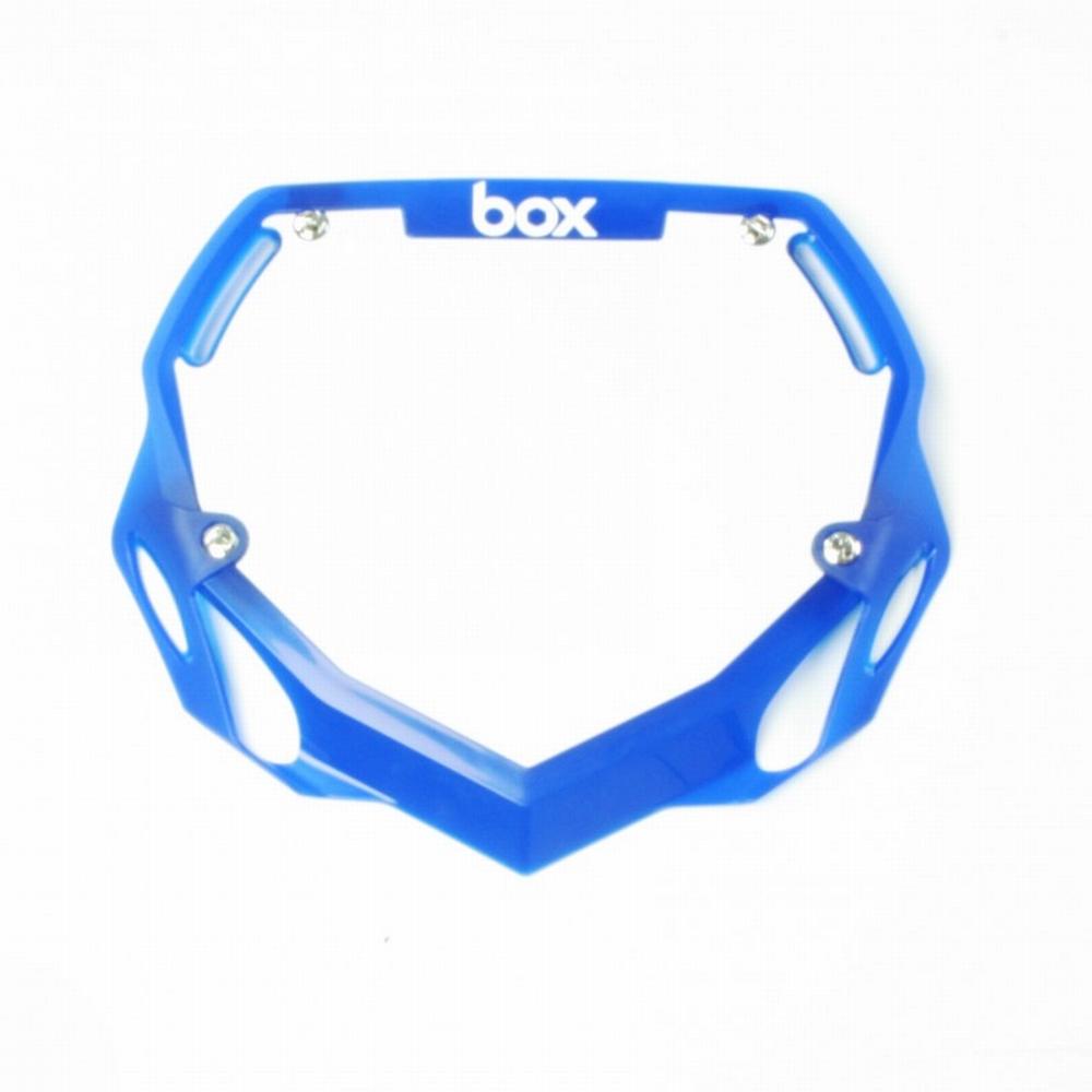 BMX Nummer Bord BOX Phase 1 Translucent Groot Blauw