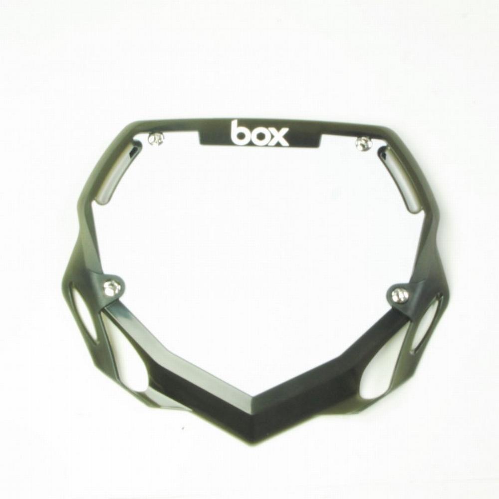 BMX Nummer Bord BOX Phase 1 Translucent Groot Zwart