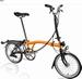 Brompton 2021 Oranje-Zwart H6RN + Dy Verlichting